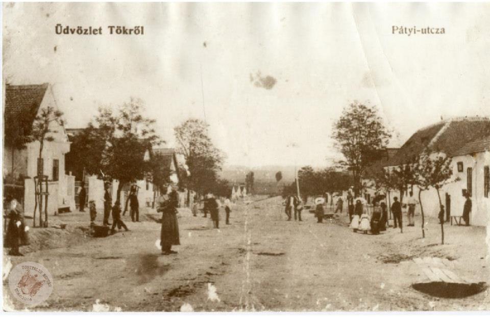 """KÉPESLAP """"PÁTYI-UTCZA"""" 1920"""