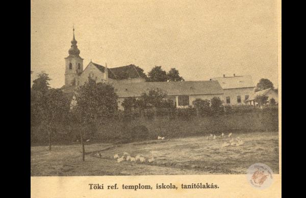 0094 Református templom és Iskola 1950.körül lev.lap